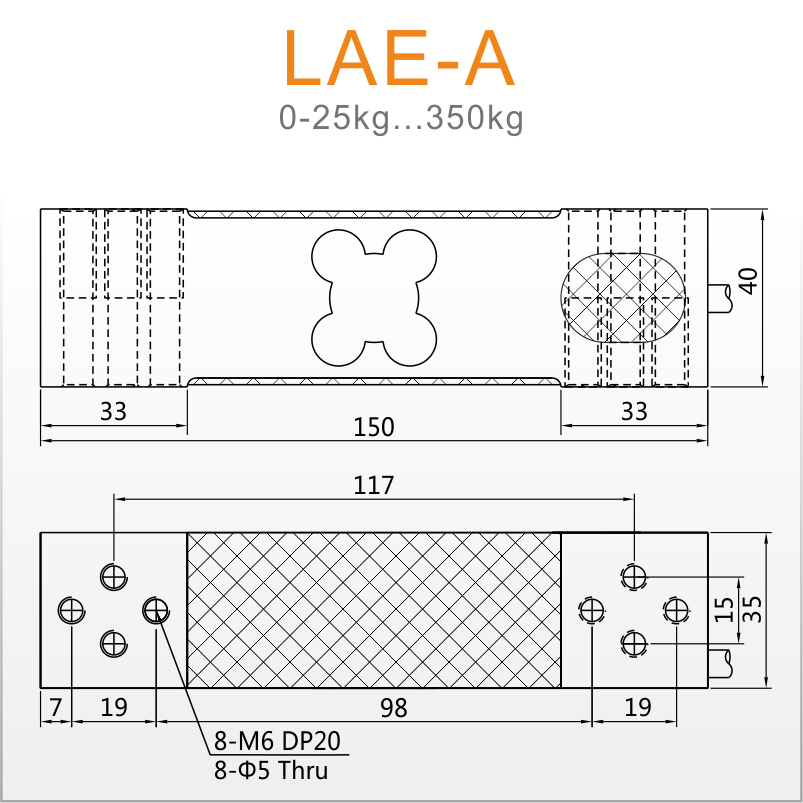 【LCT555000a会员中心】LAE-A菱形孔高精度台秤传感器 OIML认证 CMC认证